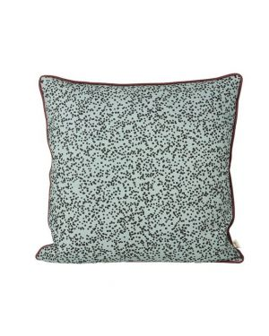 Ferm LIVING - Large Dottery Cushion - Dusty Blue 50x50cm