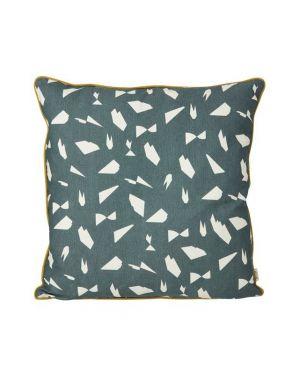 Ferm LIVING - Large Mini Cut Cushion - Green - 50x50cm