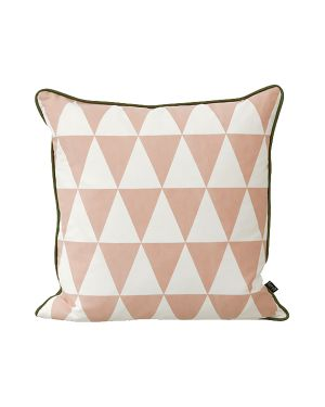 FERM LIVING-Large Geometry Cushion - Rose 50x50cm