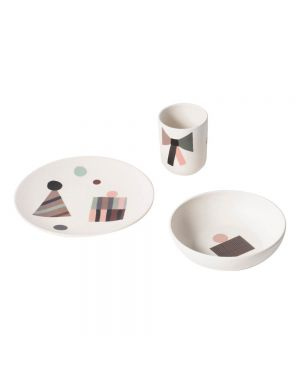 "Ferm Living - Set vaisselle ""Party"" en bambou Multicolore"