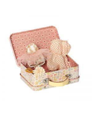 MAILEG - Valise avec vêtements pour micro lapin fille