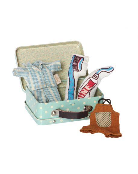 MAILEG - Valise avec vêtements pour micro lapin
