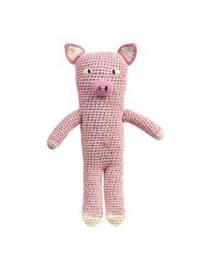 ANNE-CLAIRE PETIT - Peluche cochon rose