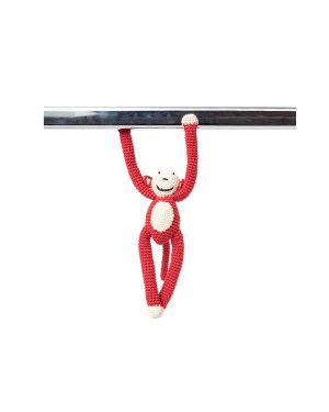 ANNE-CLAIRE PETIT - Petit singe acrobatique bras aimantés orange