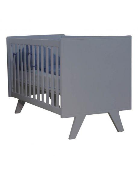 MATHY BY BOLS - Madavin Baby Bed 60 x 120cm Charcoal grey