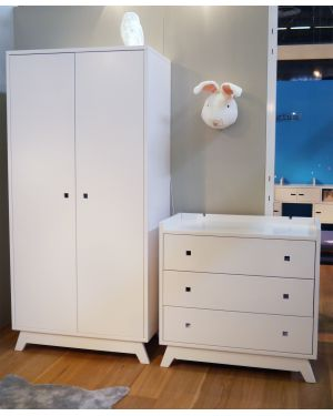 MATHY BY BOLS - Armoire 2 portes Madavin - Dviers coloris