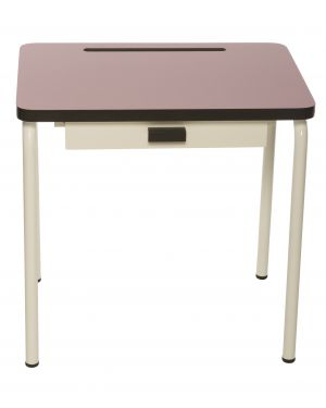 LES GAMBETTES REGINE - Design school desk for kids 2-7 y.o. - Powder Pink