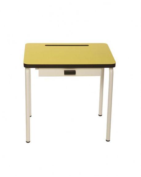 LES GAMBETTES REGINE - Design school desk for kids 2-7 y.o. - Yellow