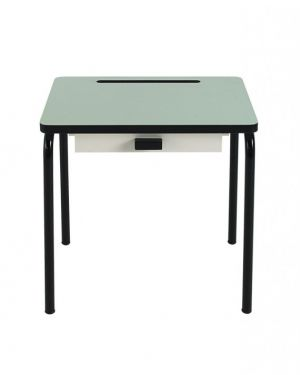 LES GAMBETTES REGINE - Design school desk for kids 2-7 y.o. - Mint with black legs