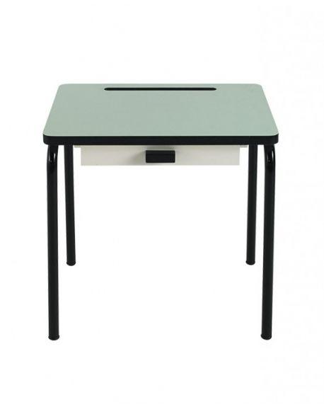 LES GAMBETTES REGINE - Design school desk for kids 2-7 y.o. - Mint with black legs