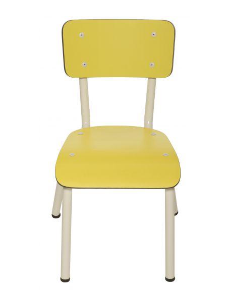 LES GAMBETTES LITTLE SUZIE - Chaise d'écolier design - Jaune pâle
