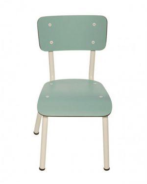 LES GAMBETTES LITTLE SUZIE - Chaise d'écolier design - Bleu jade