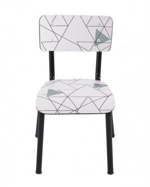 LES GAMBETTES LITTLE SUZIE - Chaise d'écolier design - Imprimé fond blanc Destruct