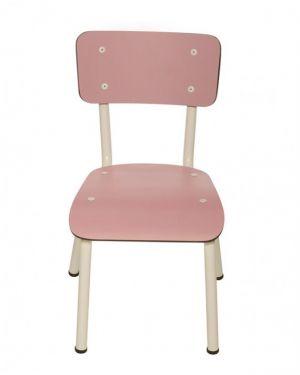 LES GAMBETTES LITTLE SUZIE - Chaise d'écolier design - Vieux rose