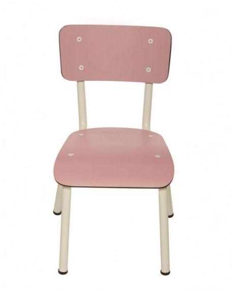LES GAMBETTES LITTLE SUZIE - Chaise d'écolier design - Rose Poudré