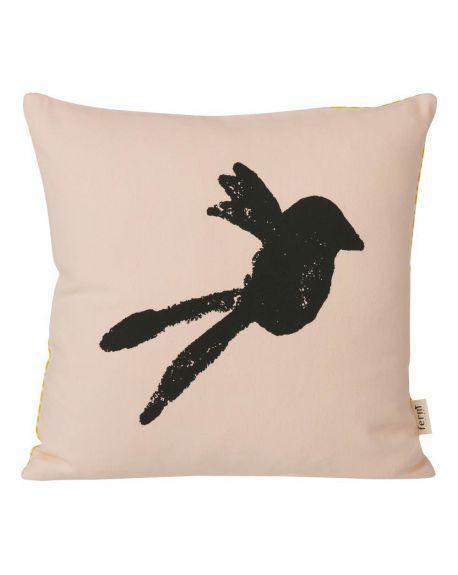 FERM LIVING-Coussin Oiseau - Rose