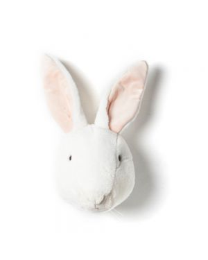 WILD & SOFT - Trophy in plush - White bunny