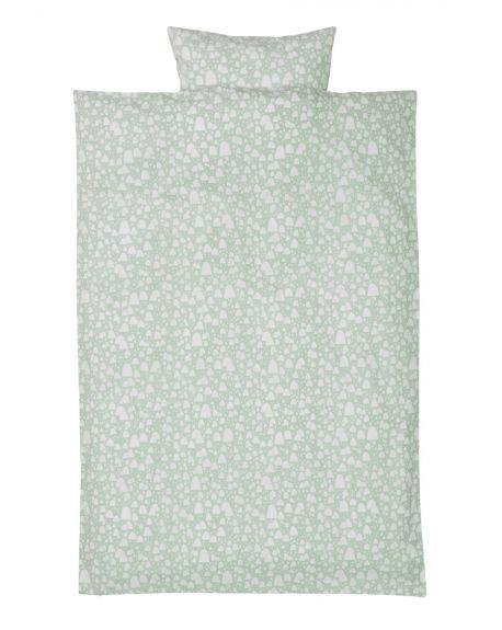 FERM LIVING - Mountain Tops Mint - Housse de couette et taie 140 x 200 cm