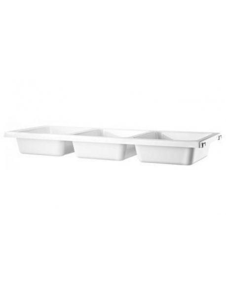 STRING - Shelf with 3 bowls - L 78 x 30 cm