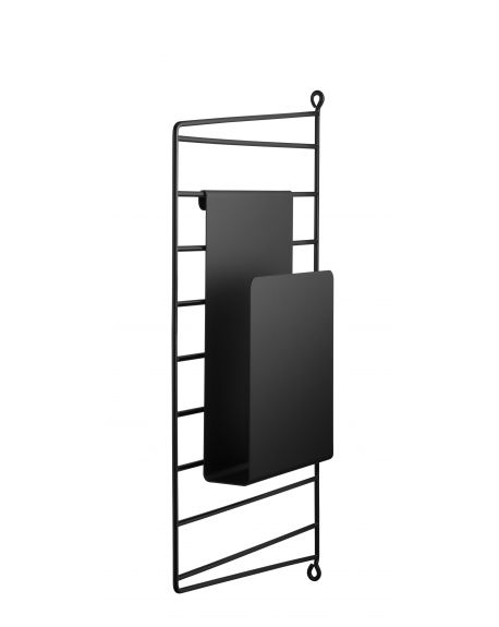STRING - Rangement - Porte magazine - Noir