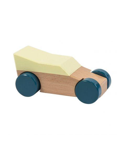 SEBRA - Wooden Race Car - Yellow