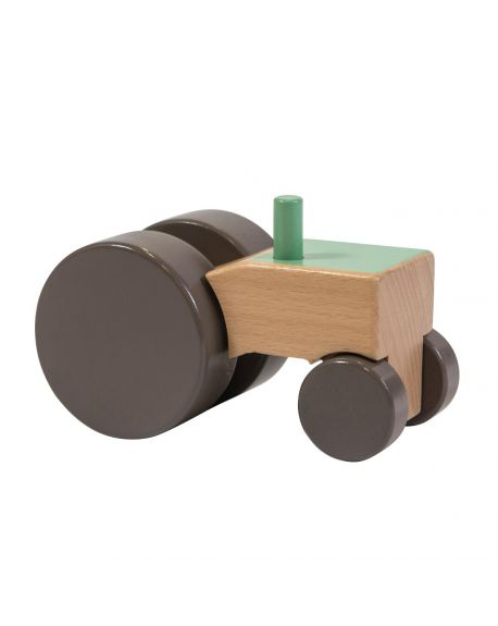 SEBRA - Wooden Tractor - Green
