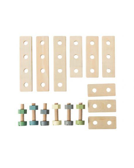 SEBRA - Wooden Construction Playset