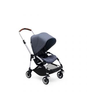 BUGABOO BEE5 Complete - Blue melange Canopy / Aluminium structure / Cognac Handlebar Grips