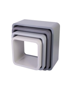 Sebra - storage units - square - matte grey