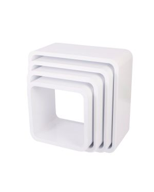 Sebra - storage units - square - matte - white