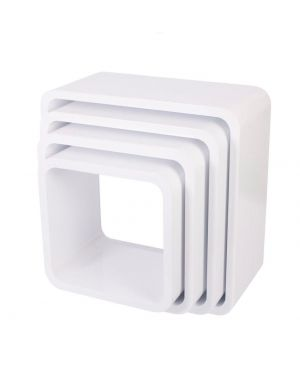 Sebra - storage units - square - white