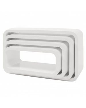 Sebra - storage units - oval - white