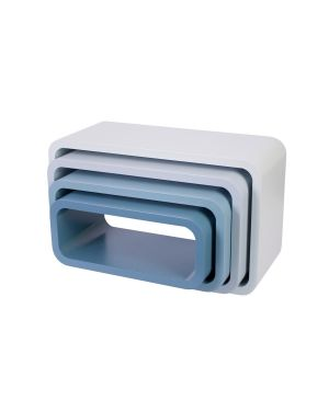 Sebra - storage units - oval - matte - cloud blue