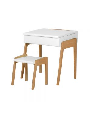 Jungle by jungle - Bureau + Tabouret My Little Pupitre - Blanc