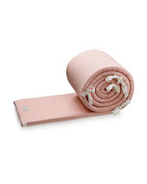 CAM CAM COPENHAGEN - Organic Cotton Cot Bumper Sashiko - Blush