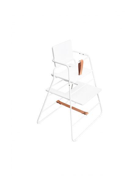 BUDTZBENDIX - Towerchair: Chaise haute + plateau - Blanc