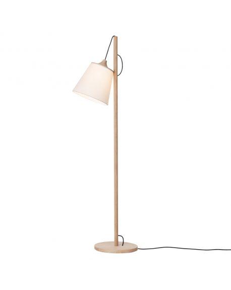 MUUTO-PULL - DESIGN FLOOR LIGHT - Wood/white