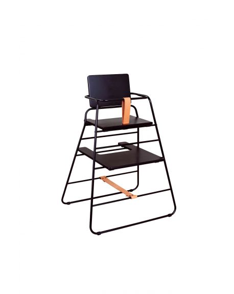 BUDTZBENDIX - Towerchair High Chair + tray - Black