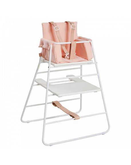 BUDTZBENDIX – Buckle up Harness for High Chair Towerchair - Natural Leather & White