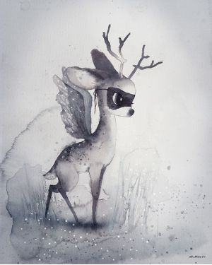 "MRS. MIGHETTO - Print ""Dear Fawn"""