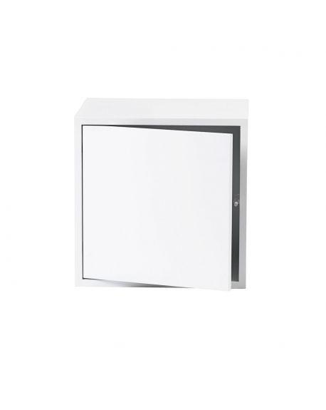 MUUTO STACKED - MODULE DE RANGEMENT M - Blanc / avec porte