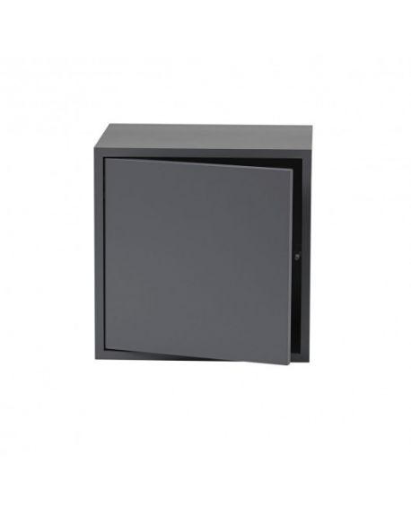 MUUTO STACKED - SHELVING UNIT - Dark grey with door
