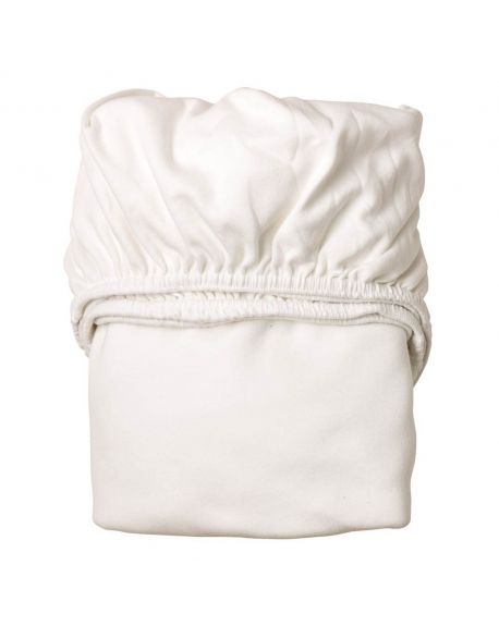 LEANDER- Lot de 2 draps housse - 60 x 120 cm - Blanc
