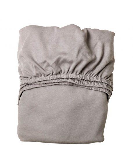 LEANDER- Lot de 2 draps housse - 60 x 120 cm - Gris