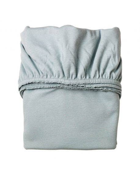 LEANDER- Lot de 2 draps housse - 60 x 120 cm - Bleu