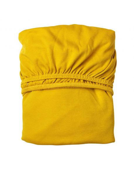 LEANDER - Set of 2 Fitted Sheets - 60 x 120 cm - Mustard