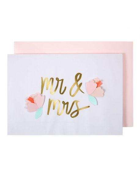 Meri Meri - M and Mrs card