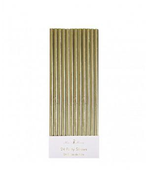 Meri Meri - Gold Foil Party Straws x 24