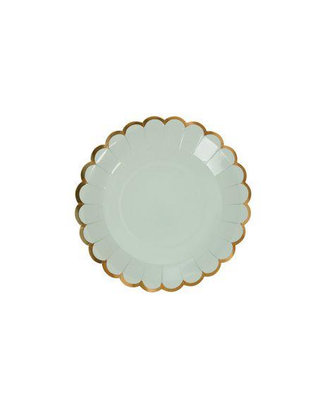 Meri Meri - 8 assiettes à canapé pastel