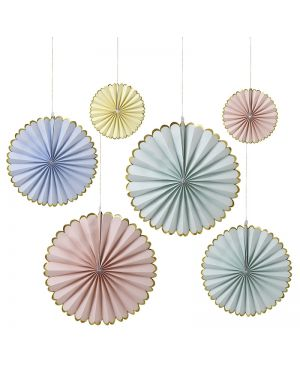 Meri Meri - Pastel Pinwheel Decorations